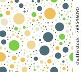colorful polka dots seamless... | Shutterstock .eps vector #769546090