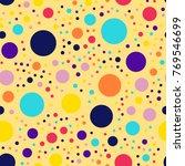 memphis style polka dots... | Shutterstock .eps vector #769546699