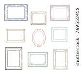 set of retro stamp frames  ...   Shutterstock .eps vector #769552453
