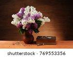 Lilac In A Ceramic Vase  A Boo...