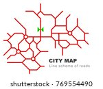 abstract city map   town... | Shutterstock .eps vector #769554490