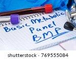 basic metabolic panel  bmp ... | Shutterstock . vector #769555084