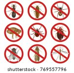 vector set with insect icons of ... | Shutterstock .eps vector #769557796