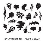 steam clouds silhouette vector... | Shutterstock .eps vector #769561624