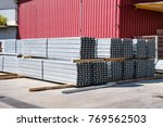 galvanized steel frame profiles ... | Shutterstock . vector #769562503