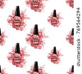manicure vector seamless... | Shutterstock .eps vector #769564294