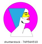 pop art poster with sexy woman...   Shutterstock .eps vector #769564510