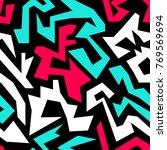 bright graffiti geometric... | Shutterstock .eps vector #769569694