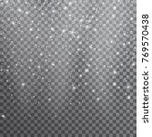 snow. vector transparent... | Shutterstock .eps vector #769570438