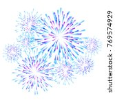 fireworks colorful carnival... | Shutterstock . vector #769574929
