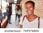 portrait of female teenage... | Shutterstock . vector #769576804