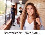 portrait of female teenage...   Shutterstock . vector #769576810