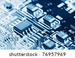 close up of electronic circuit... | Shutterstock . vector #76957969