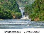 The Murchison waterfall on the Victoria Nile northern Uganda, Africa