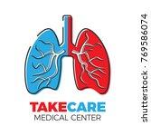 pulmonary medical center logo....   Shutterstock .eps vector #769586074