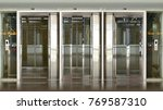 elevator lift glass...   Shutterstock . vector #769587310