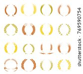 gold laurel wreath   a symbol... | Shutterstock . vector #769590754