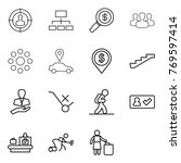 thin line icon set   target... | Shutterstock .eps vector #769597414