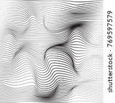 distorted wave monochrome... | Shutterstock .eps vector #769597579