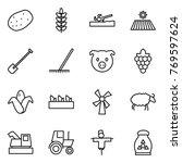thin line icon set   potato ...   Shutterstock .eps vector #769597624