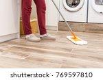 housekeeping  cleaning floor...   Shutterstock . vector #769597810