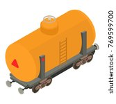 wagon gasoline icon. isometric... | Shutterstock .eps vector #769599700