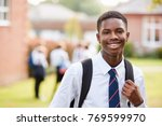 portrait of male teenage... | Shutterstock . vector #769599970