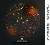 point line links constitute the ... | Shutterstock .eps vector #769600960