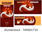chocolate packaging with... | Shutterstock .eps vector #769601710
