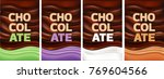 multicolor chocolate background ... | Shutterstock .eps vector #769604566