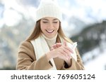 front view portrait of a happy... | Shutterstock . vector #769605124