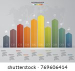 business infographics design... | Shutterstock .eps vector #769606414