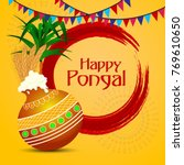 pongal  thai pongal is a tamil... | Shutterstock .eps vector #769610650