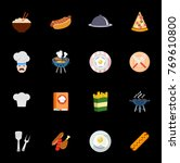 cooking icons set   Shutterstock .eps vector #769610800