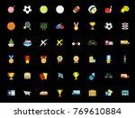 sports icons set   Shutterstock .eps vector #769610884