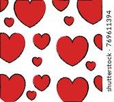 hearts love pattern background