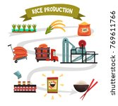 infographic template of rice... | Shutterstock .eps vector #769611766