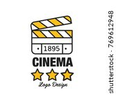 black and yellow cinema or... | Shutterstock .eps vector #769612948