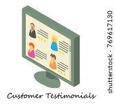 customer testimonial icon.... | Shutterstock .eps vector #769617130