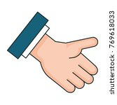 hand receiving isolated icon | Shutterstock .eps vector #769618033