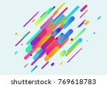 bright neon tubes minimalistic... | Shutterstock .eps vector #769618783