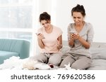 the girls are crying at the hen ...   Shutterstock . vector #769620586