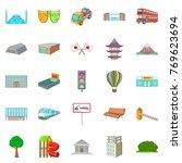 metropolitan power icons set