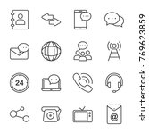 communication vector icons.... | Shutterstock .eps vector #769623859