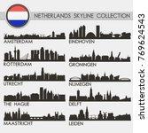 most famous netherlands cities. ... | Shutterstock .eps vector #769624543