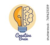 creative brain concept icon | Shutterstock .eps vector #769625359
