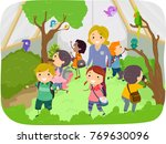 illustration of of stickman... | Shutterstock .eps vector #769630096
