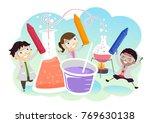 illustration of stickman kids... | Shutterstock .eps vector #769630138