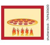 isolated vector pizza logo. | Shutterstock .eps vector #769630600