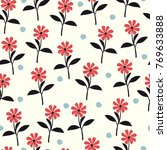 seamless floral pattern. floral ... | Shutterstock .eps vector #769633888